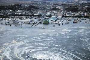 Oarai, Ibaraki Prefecture shortly after being hit by the March 11th tsunami. (photo credit: Kyodo)