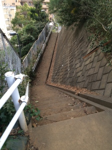 Japanese stairs are not for the faint of heart.